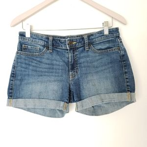 GAP Sexy Boyfriend Denim Cuffed Shorts Size 2/26